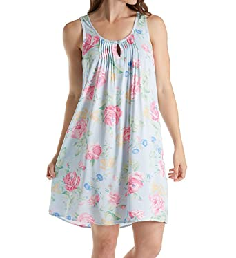 4f00688ea5 Miss Elaine Printed Woven Rayon Chemise (224767) at Amazon Women s ...