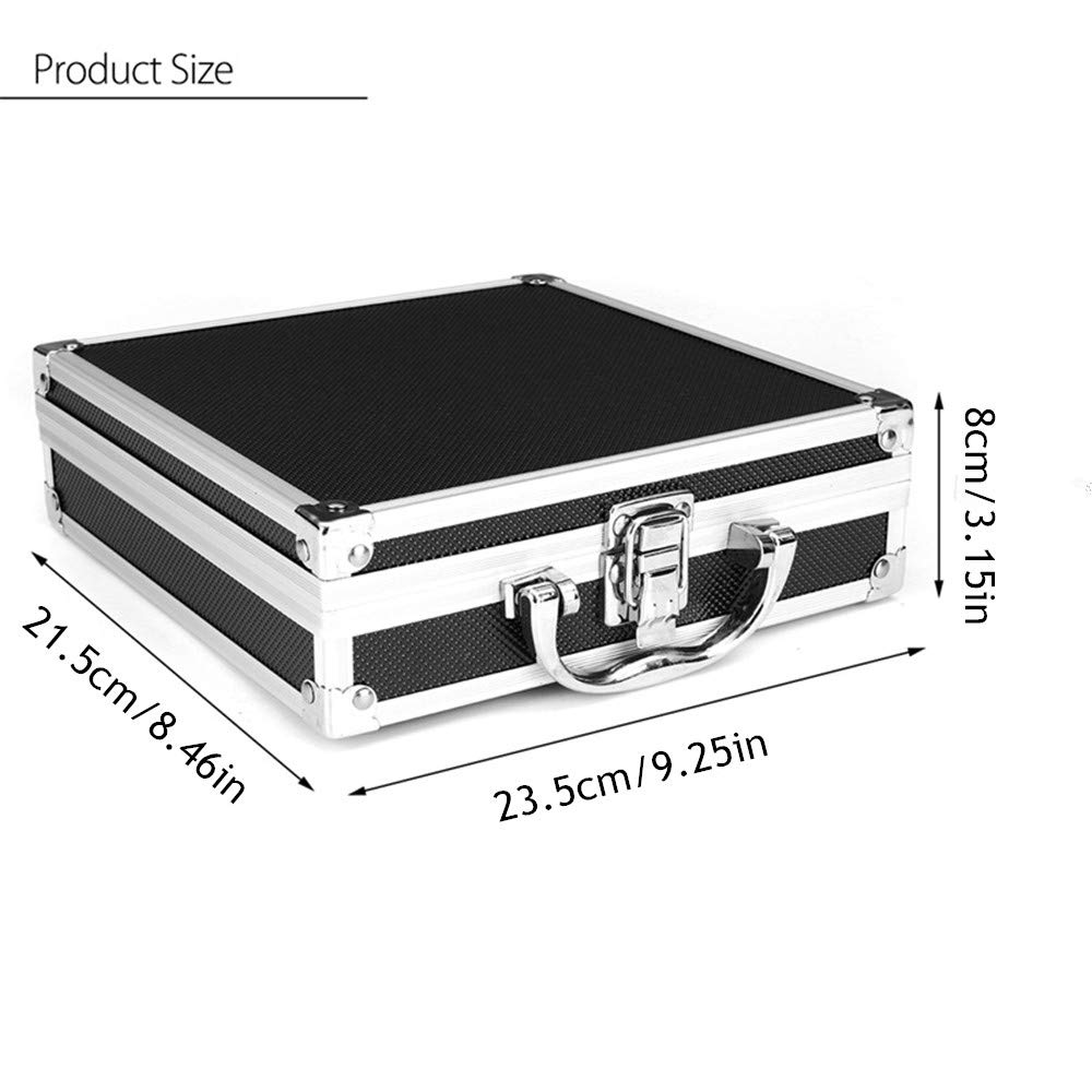 Tattoo Kit Case Yuelong Small Tattoo Machine Case Box Aluminum Tool Box Makeup Carry Box Storage Case with Sponge for Tattoo Equipment Microblading supplies 23.5x21.5x8cm