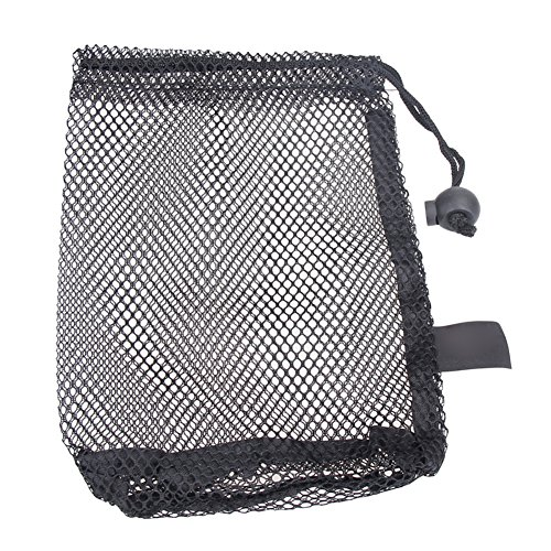 Domybest Nylon Mesh Nets Bag Pouch Golf Tennis 15 Ball Carrying Holder Storage Durab (Mesh Golf Pouch)