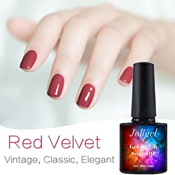 Amazon.com: Red Velvet, Nail Polish Gel 10ml Semi Permanent for ...