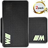 Car Phone Holder Marrrch Extra Large Sticky Car Pad Dashboard Premium Anti-Slip Gel Mat 2Pack 11' x 7' Mounting Pad for Cell phone Smartphone or GPS Devices (Black)