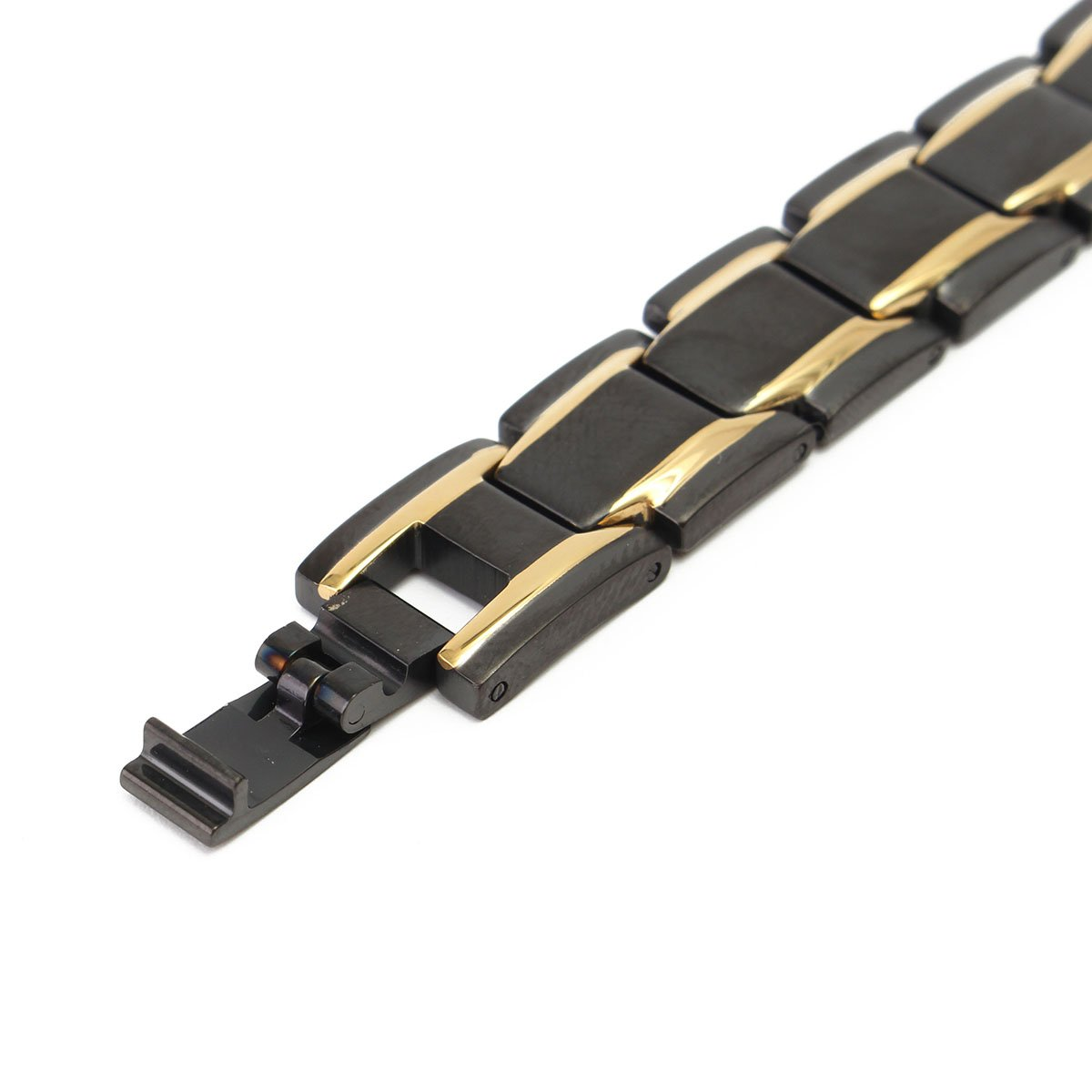 Black 316l Titanium Health Magnetic Bracelet Jewelry for Men by QOJA (Image #4)