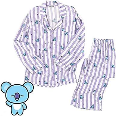 ropa de noche B.TS Bangtan Boys Chimmy COOKY KOYA MANG RJ SHOOKY TATA misma camisa de manga larga del camis/ón de Harajuku Bedgown Pijamas de mujeres