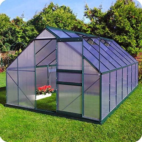 Slide & Grow Invernadero Gran Torino en Aluminio y policarbonato alveolar de 6 mm. Base incluida. Tamaño 250 x 430 cm.: Amazon.es: Jardín