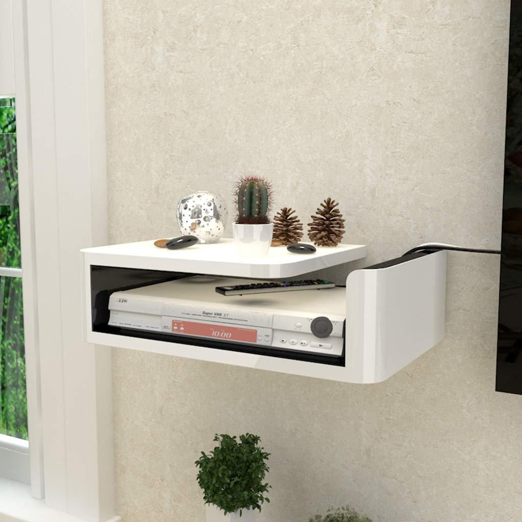 セットトップボックスWiFiルーター収納ボックスケーブルボックスウォールシェルフ小型フローティングシェルフ壁掛けテレビキャビネットベッドルームリビングルームの装飾棚 (サイズ さいず : L l) B07MLRTYNG  L l