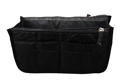 7234006c23bf Women Handbag Pouch Bag in Bag Organiser Insert Organizer Purse Tidy Travel  Makeup Cosmetic Pocket ,Black