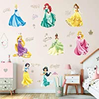 Supzone Princess Wall Stickers Girls Wall Décor Removable Art Decor for Baby Nursery Girls Bedroom Wall Decals