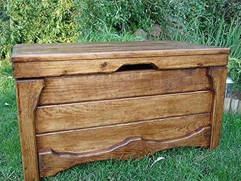 Massive Handgemachte Holzkiste Truhe Box Holz Aufbewahrung Antik Dekoration  Wohnen Möbel Sitzbank Schuhschrank Kaffee Tisch (