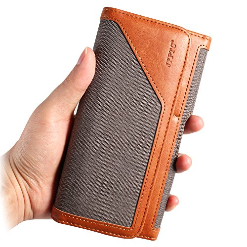 Universal Denim Cellphone Belt Holster Horizontal Case (Grey) Compatible for Apple iPhone XR/XS Max / 7 Plus/Samsung Galaxy S9+ S8+ / Huawei Mate 20 / Motorola G6 E5 / LG V40 ThinQ/OnePlus 6T