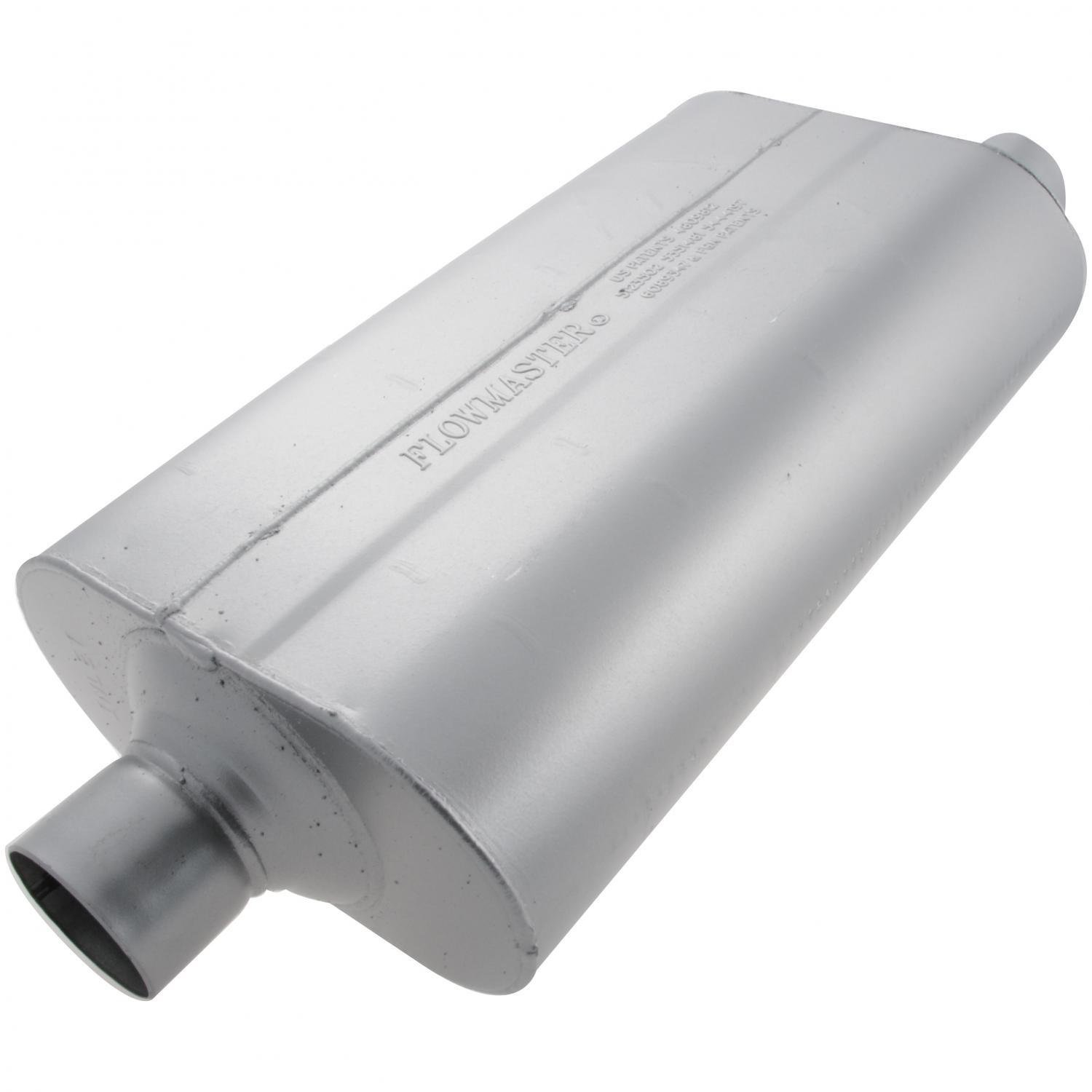 Flowmaster 52557 Super 50 Muffler - 2.50 Center IN / 2.50 Offset OUT - Moderate Sound by Flowmaster (Image #3)