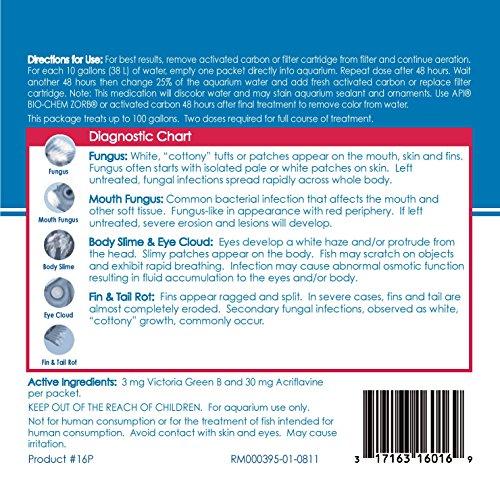 API FUNGUS CURE Freshwater Fish Powder Medication 10-Count