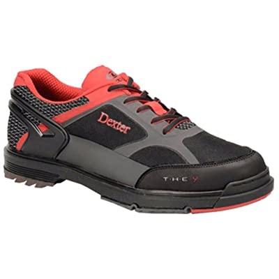 Dexter Men's The 9 HT Wide Bowling Shoes, Black/Red/Grey, Size 7.5: Sports & Outdoors