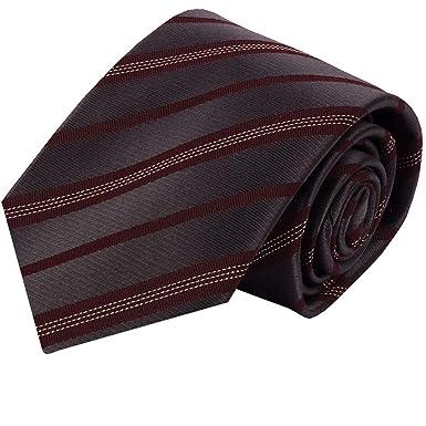 Ashford Elegante Corbata extra larga, rayas, color, burdeos sobre ...