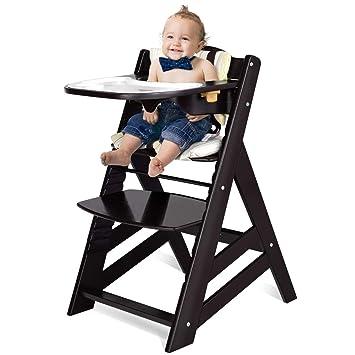 Amazon.com: Silla alta de madera Costzon, silla de comedor ...