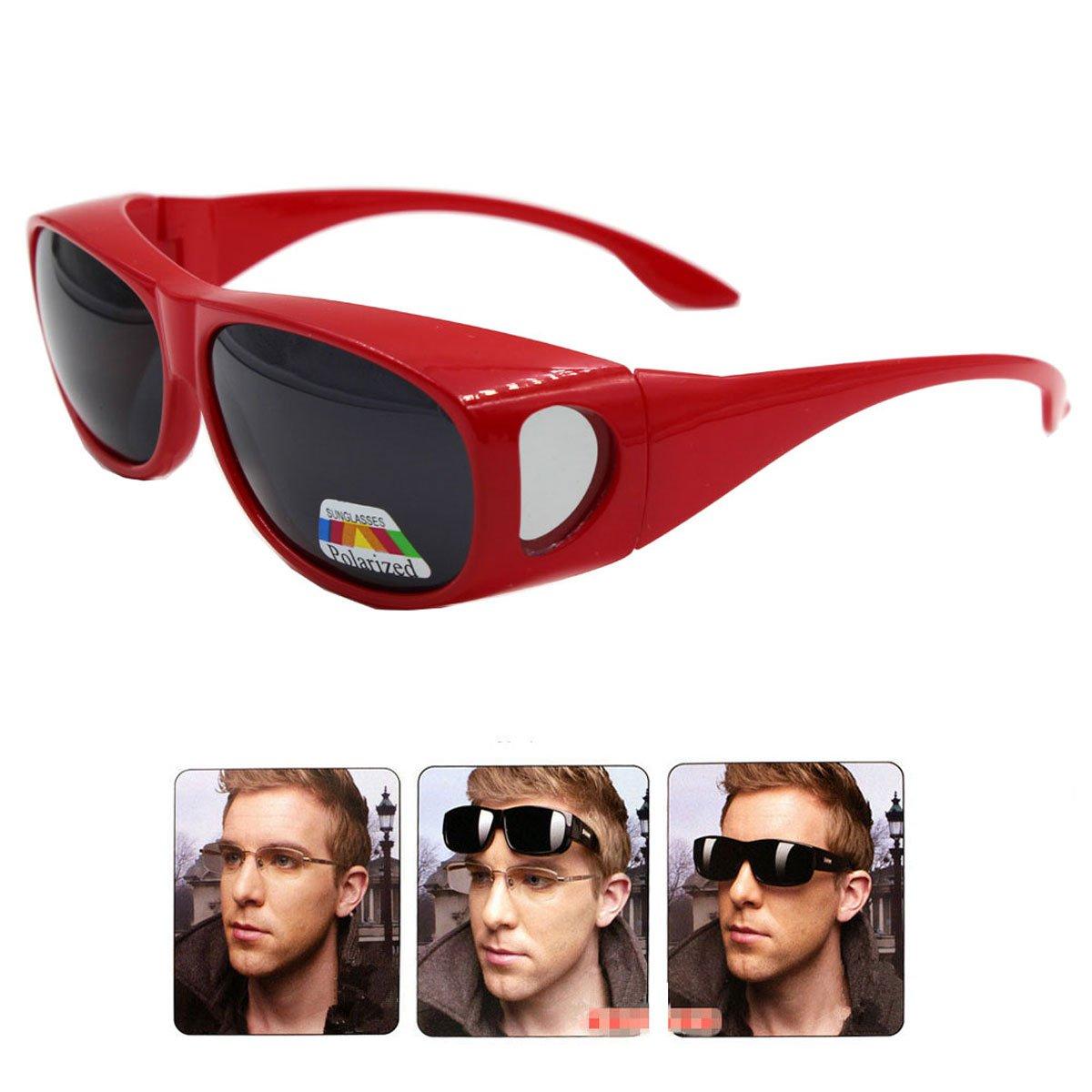 LEDING Wear Over sunglasses men women Polarized lens, fit over Prescription Glasses UV400