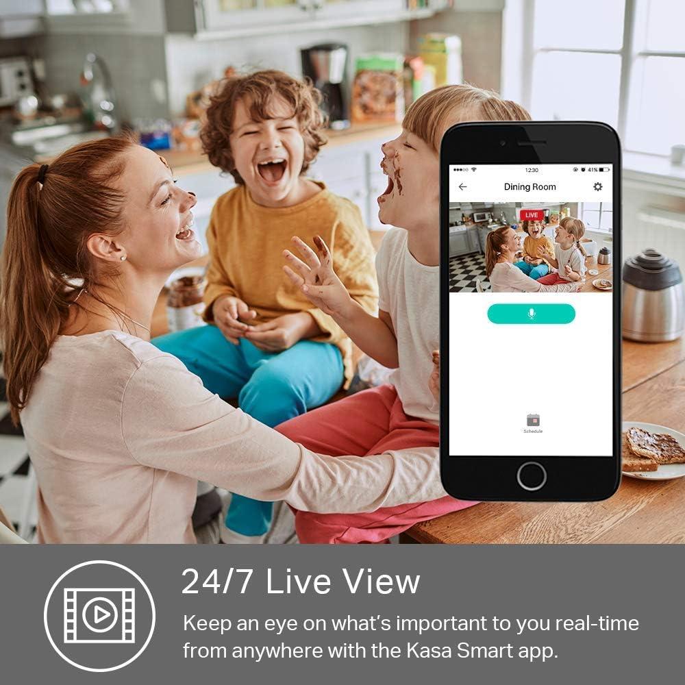 TP-link KC100 - Cámara Vigilancia, Cámara IP WiFi 1080p Full HD 130° Gran Angular, Zonas de Detección de Movimiento Ajustables, Visión Nocturna, Audio de 2 Vias y Nube con Kasa App para