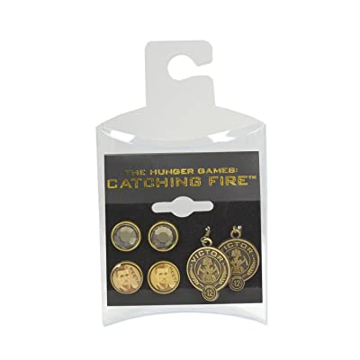 NECA The Hunger Games: Catching Fire Peeta Earrings, Set of 3: Toys & Games