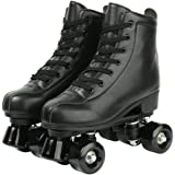 XUDREZ Roller Skates, Double Row Skates Adjustable Leather High-top Roller Skates Perfect Indoor Outdoor Adult Roller Skates