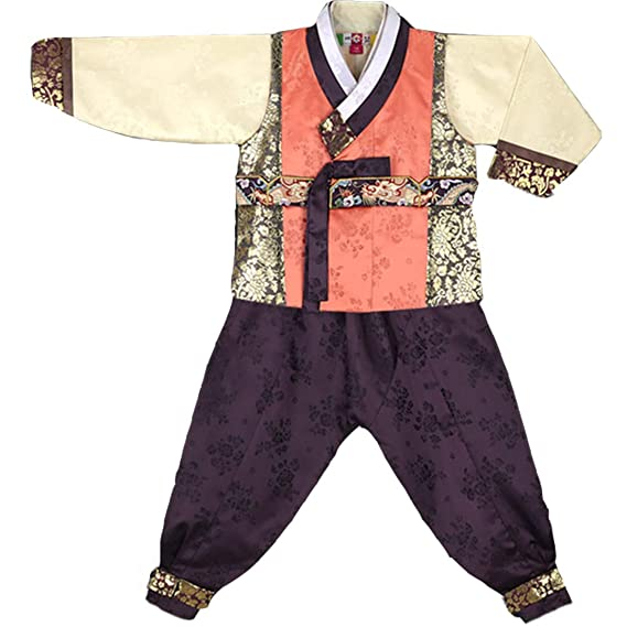 940be2644 Hanbok Boy Korea Traditional Dress Clothes Polyester 100% Birthday New Year  Party Jung Uk Peanut Color vest: Amazon.co.uk: Clothing