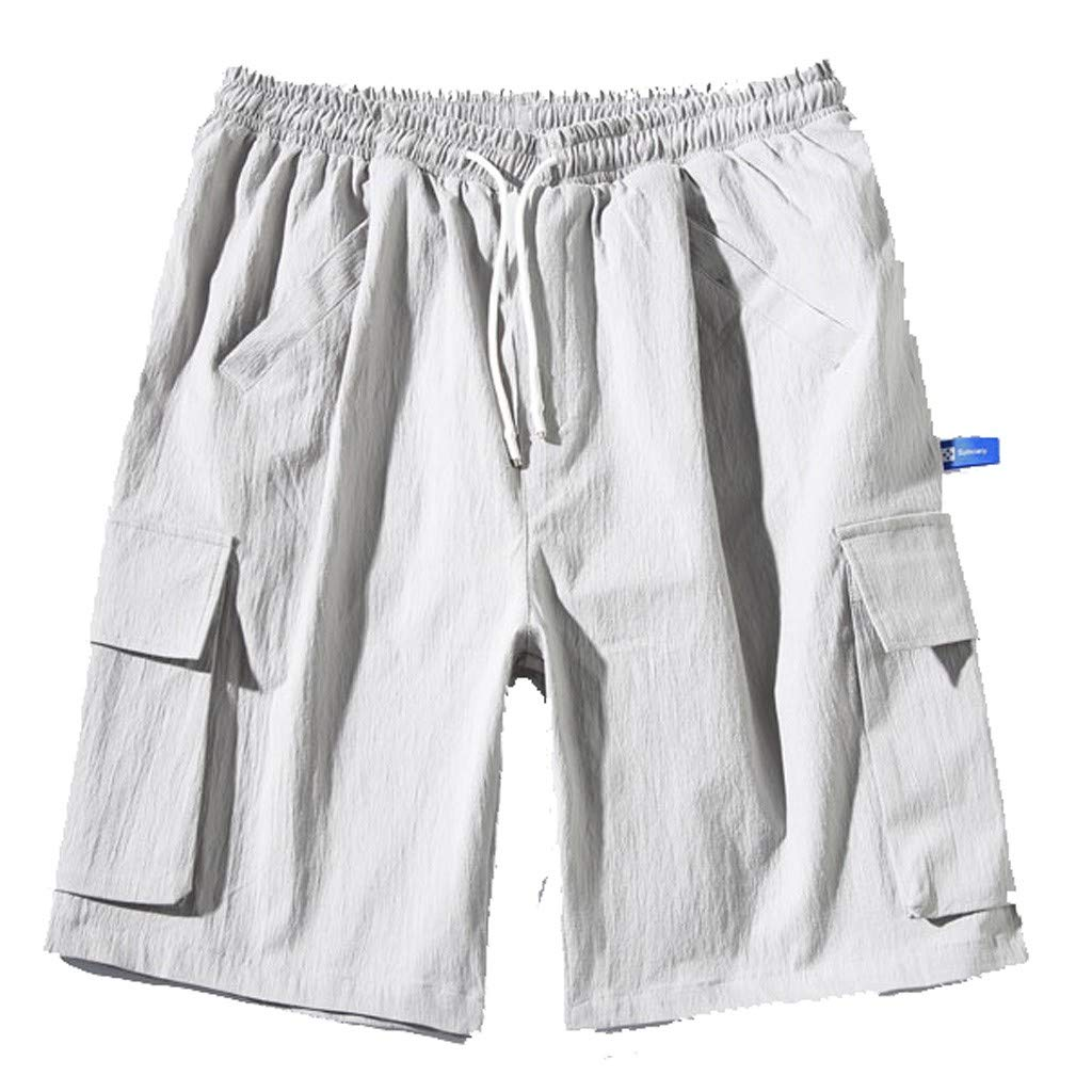 Tigivemen Men's Tooling Denim Shorts,Sweatpants for Men,Fashion Men's Pocket Pants, Casual Classic Fit Short for Men by Tigivemen Shorts