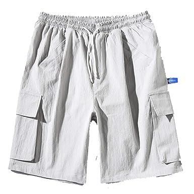 ACEBABY Pantalones Cortos Hombre de Trabajo Moda Original ...