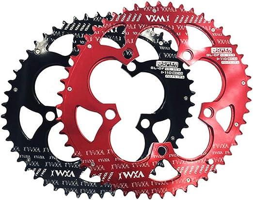 Bangxiu-sports Plato para Bicicleta Bicicleta Doble Oval Chainring ...