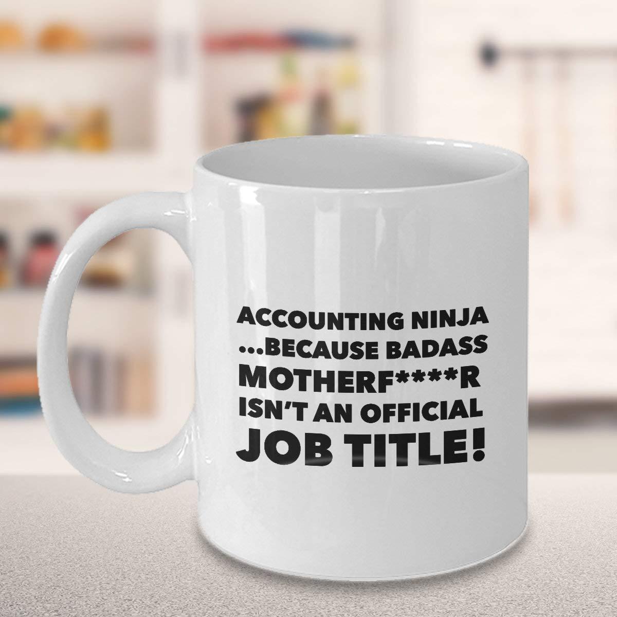 Taza de café Ninja Contable para CPA contable CFO cumpleaños ...