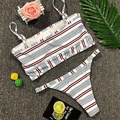 Donne Bikini Floreale Set Push-Up Imbottito Costume Da Bagno Costumi Da Mare Balneazione Monokini Costume Da Beachwear Set Swimwear Spiaggia Estate Pezzi Fascia Vita Alta