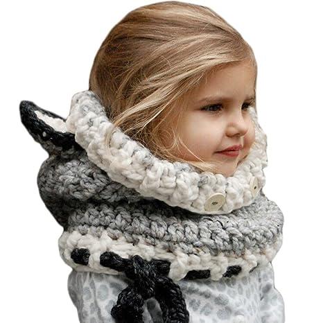 Yezelend Bonnet Chaud Chapeau Cagoule Renard Bebe Enfant Echarpe Hiver  Automne en Laine Tricote 5d332be8999