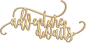 Adventure Awaits Wood Sign Home Décor Wall Art Unfinished 18