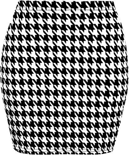 (WearAll Women's Print Mini Skirt - Houndstooth - 8-10)