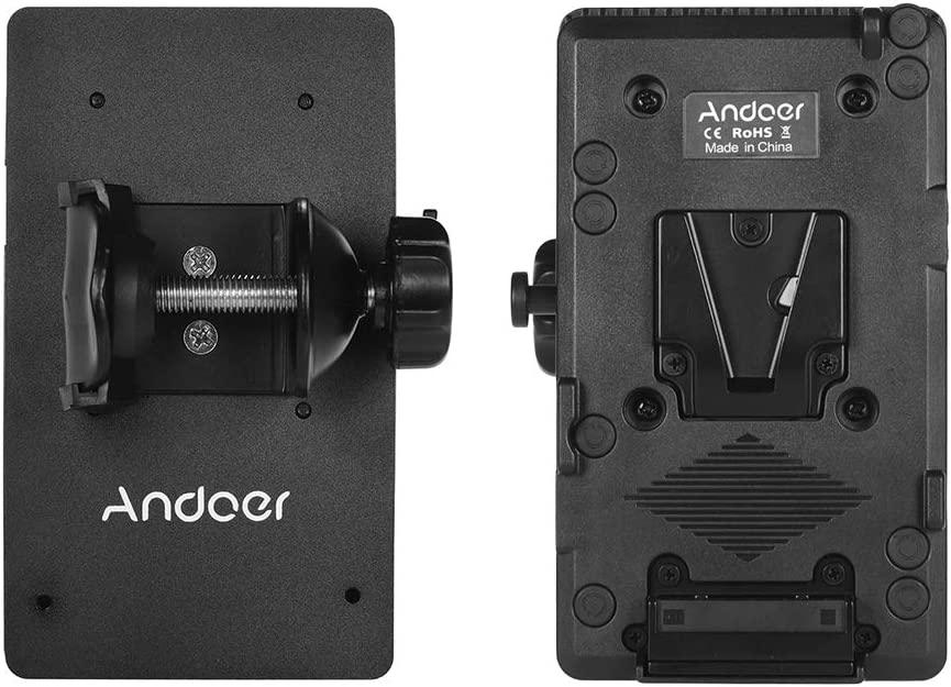 Andoer D-tap Mount Battery Plate Adapter Power Supply System with Column Clamp for Sony Camera Battery