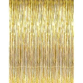 2 X 3 8 Gold Tinsel Foil Fringe Backdrop Door Window Curtain Party