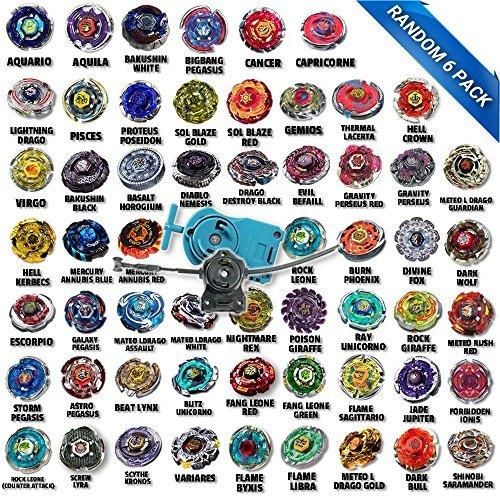 Beyblade Ultimate Battle Pack Comes with 6 Random Beyblades