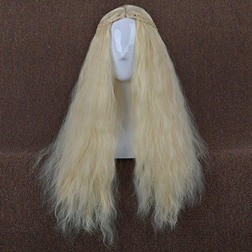 [LightInTheBox Long Wavy Curly Hair Wigs Heat Resistance Game of Thrones Cosplay Wig Daenerys Targaryen khaleesi Cosplay Costume Wig (Blonde)] (Daenerys Costume For Sale)
