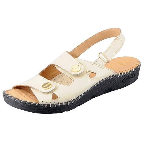 1a9acaf272b Dr.Scholls Women s Cream Sandals 664-8054-41  Buy Online at Low ...