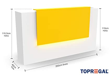 Elegante mostrador de recepción VERA con iluminación LED - Mesa ...