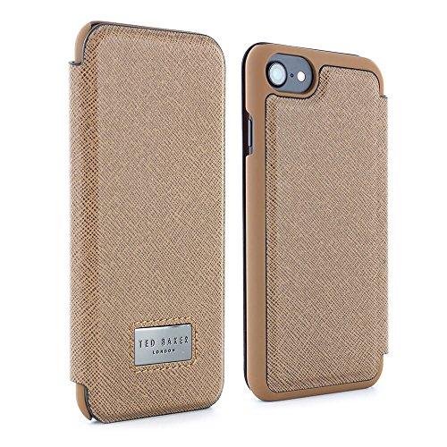 Official TED BAKER® AW17 Folio Style Case for iPhone 8 / 7 , High Quality Premium Folio Cover with Card Slot for Professional men