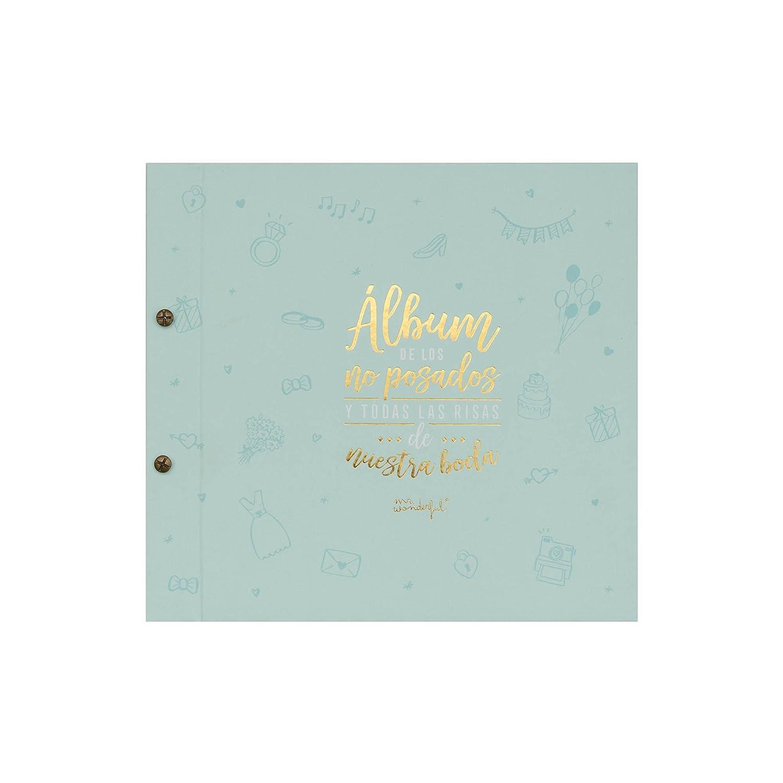 Mr. Wonderful Álbum de los no posados y todas las risas de nuestra boda, Cartón, 27x1.5x25 cm MRW9