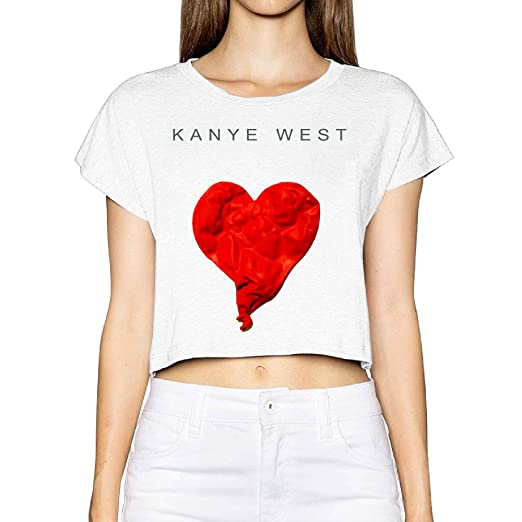 Kanye West 808s Heartbreak T Shirt Woman Printed Memorial Crop Top Tee