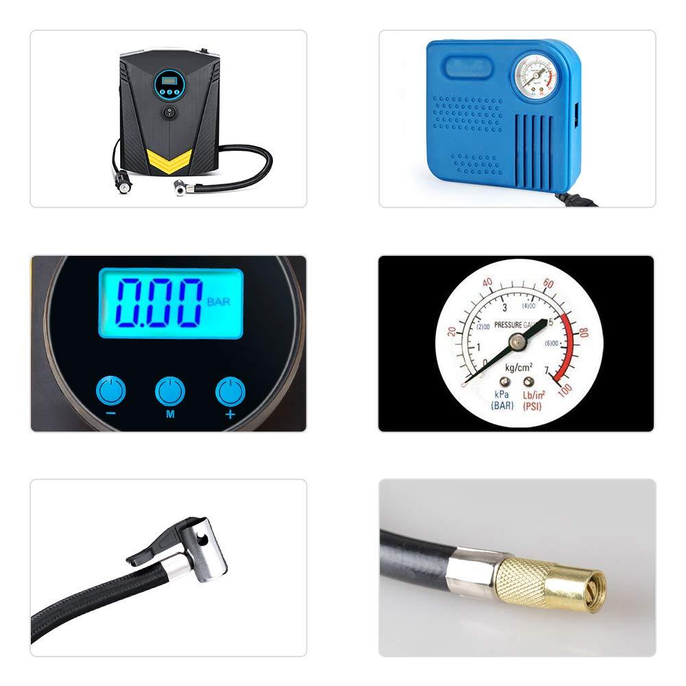 Air Compressor Pump Black Yimale 12V 150 PSI Car Air Pump Digital Tire Inflator with Preset Pressure Auto Shut Off Gauge