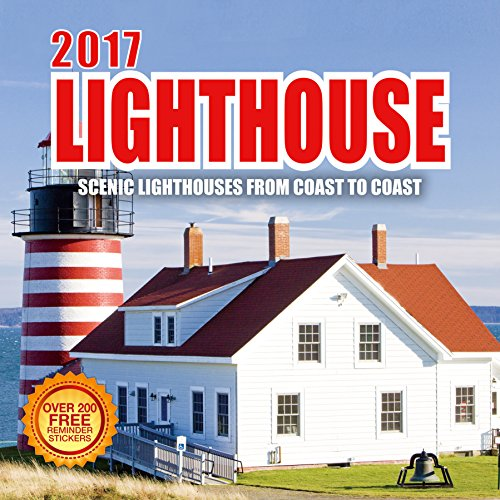 2017 Lighthouse Calendar - 12 x 12 Wall Calendar - 210 Free Reminder Stickers (Virtual Wall Scheduler)