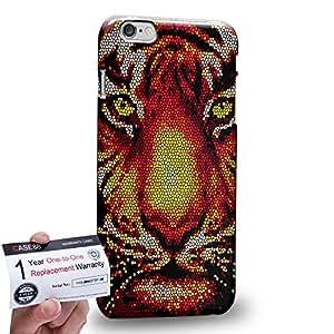 "Case88 [Apple iPhone 6 / 6s Plus (5.5"")] 3D impresa Carcasa/Funda dura para & Tarjeta de garantía - Art Aztec Design Red Tiger Animal Faces"