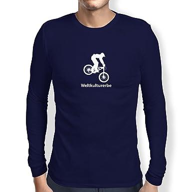 TEXLAB - Weltkulturerbe Downhill - Langarm T-Shirt, Herren, Größe S,  dunkelblau