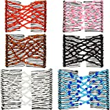 Boao 6 Pieces Beads Hair Combs Magic Elastic Hair Clips Stretchy Hair Comb Double Clips for Women Girls Hair Accessory (9 x 7 cm, Color Set 1)