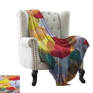 Amazon.com: Umbrella Festival,Picture blanket Colorful ...