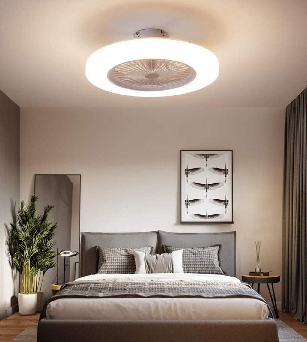 Deckenventilator Mit Beleuchtung LED-Licht Einstellbare Windgeschwindigkeit Gold, 58cm 36W Moderne LED-Deckenleuchte Restaurant Schlafzimmerfarbe Optional,White,Clear Dimmbare Fernbedienung