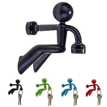 A-szcxtop(TM) Llavero magnético para Pegar en la Pared, Color Negro