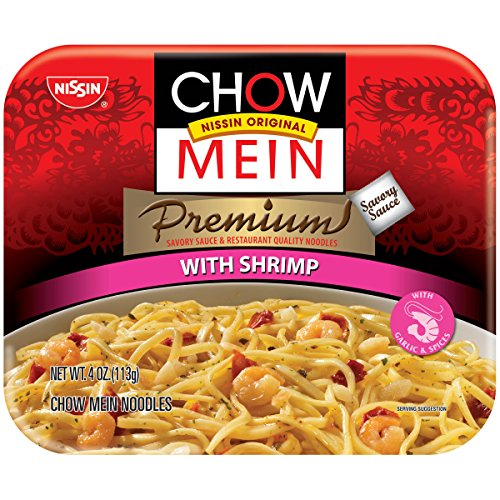 Nissin Chow Mein Q&E Shrimp, 4-Ounce Units (Pack of 8)