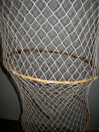 magicaldeco Große DEKO- Fischreuse- Natur- mit 5 Bambusringen- 180 cm